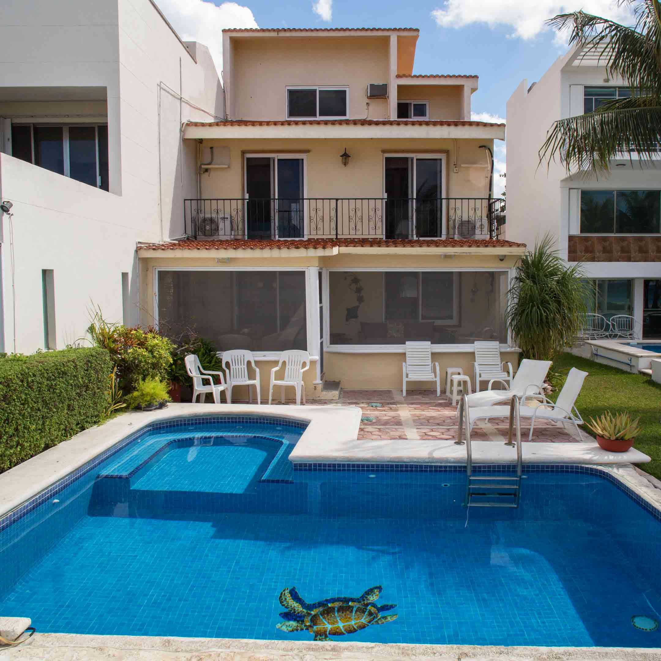 Cozumel Vacation Rental Pool and Patio